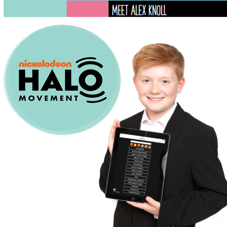 Alex Knoll & Ability App featured on Nickelodeon's Halo Movement.